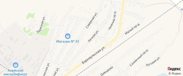 Речная улица на карте Алейска с номерами домов
