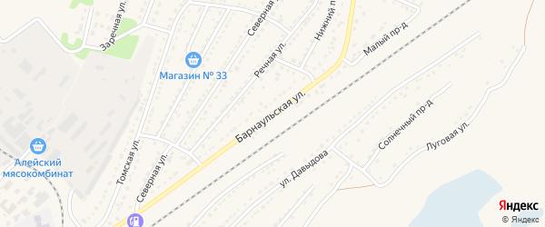 Барнаульская улица на карте Алейска с номерами домов