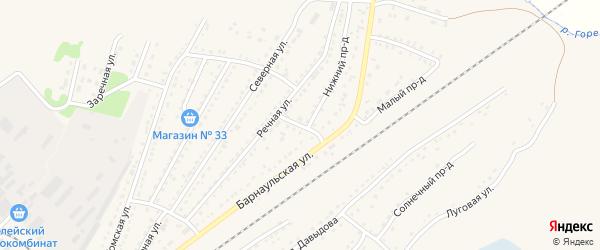 Березовый переулок на карте Алейска с номерами домов