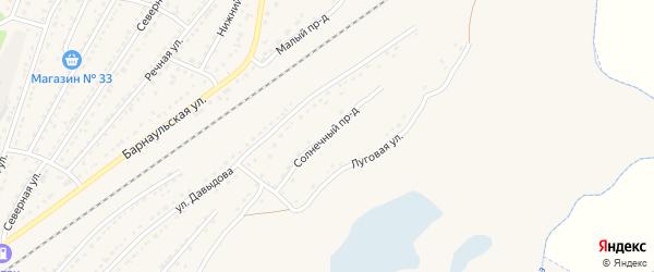 Солнечный проезд на карте Алейска с номерами домов
