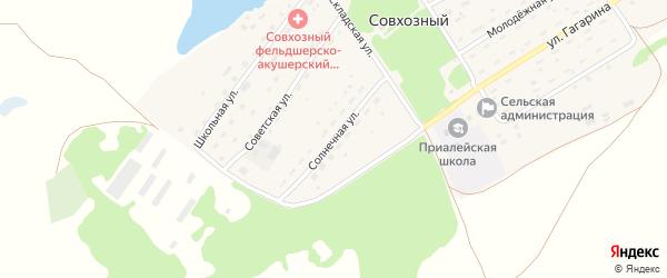 Солнечная улица на карте Совхозного поселка с номерами домов