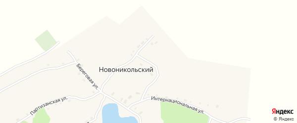 Комсомольская улица на карте Новоникольского поселка с номерами домов