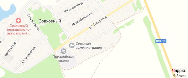 Октябрьская улица на карте Совхозного поселка с номерами домов