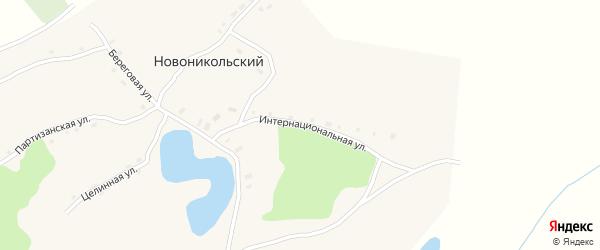 Интернациональная улица на карте Новоникольского поселка с номерами домов
