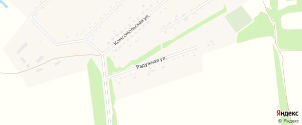 Радужная улица на карте села Вавилона с номерами домов