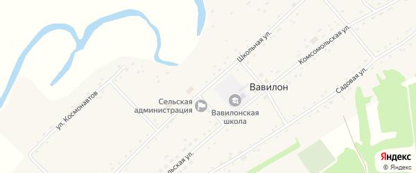 Школьная улица на карте села Вавилона с номерами домов