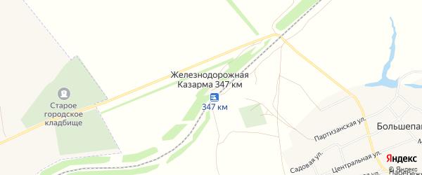 Карта железнодорожной казармы 347 км в Алтайском крае с улицами и номерами домов