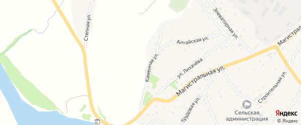 Каменная улица на карте села Харлово с номерами домов