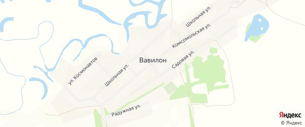 Карта села Вавилона в Алтайском крае с улицами и номерами домов