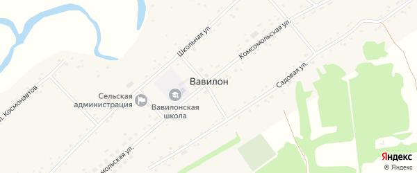 Улица Космонавтов на карте села Вавилона с номерами домов
