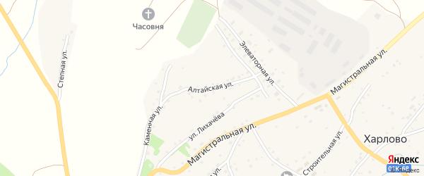 Алтайская улица на карте села Харлово с номерами домов
