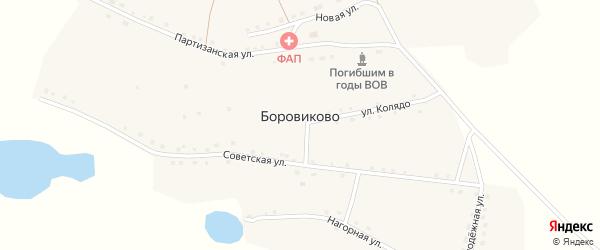 Новая улица на карте села Боровиково с номерами домов