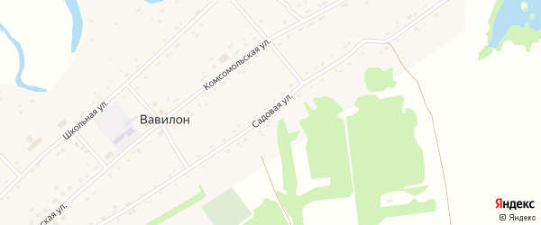 Садовая улица на карте села Вавилона с номерами домов
