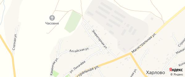 Рабочая улица на карте села Харлово с номерами домов