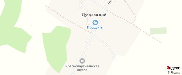 Центральная улица на карте Дубровского поселка с номерами домов