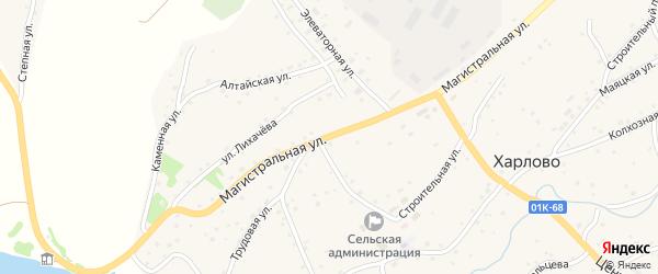 Магистральная улица на карте села Харлово с номерами домов
