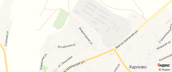 Элеваторная улица на карте села Харлово с номерами домов