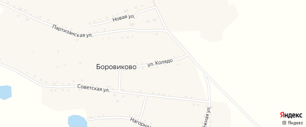 Улица Колядо на карте села Боровиково с номерами домов