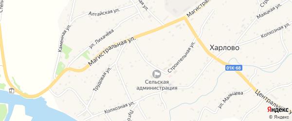 Больничный переулок на карте села Харлово с номерами домов