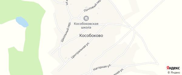 Лесная улица на карте села Кособоково с номерами домов