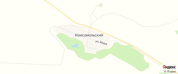 Карта Комсомольского поселка в Алтайском крае с улицами и номерами домов