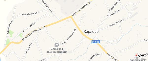 Строительная улица на карте села Харлово с номерами домов