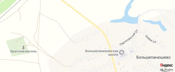 Железнодорожная улица на карте села Большепанюшево с номерами домов