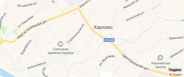 Колхозная улица на карте села Харлово с номерами домов