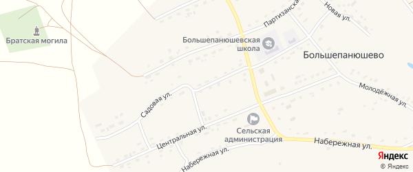 Садовая улица на карте села Большепанюшево с номерами домов