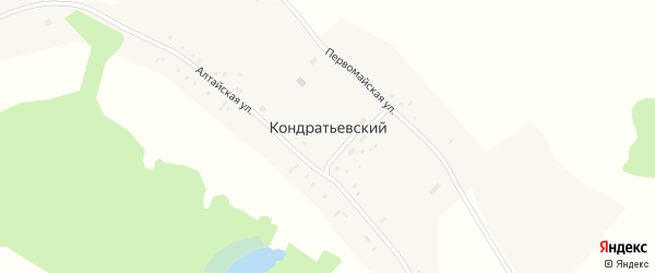 Первомайская улица на карте Кондратьевского поселка с номерами домов