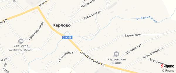 Набережная улица на карте села Харлово с номерами домов