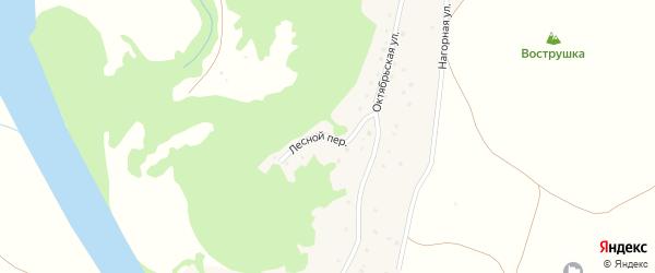 Лесной переулок на карте села Харлово с номерами домов
