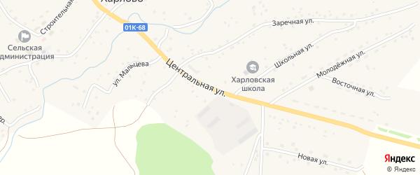 Центральная улица на карте села Харлово с номерами домов