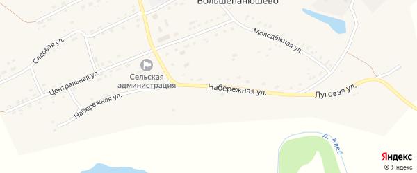 Набережная улица на карте села Большепанюшево с номерами домов