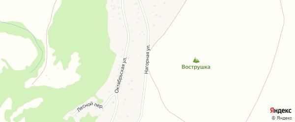 Нагорная улица на карте села Харлово с номерами домов