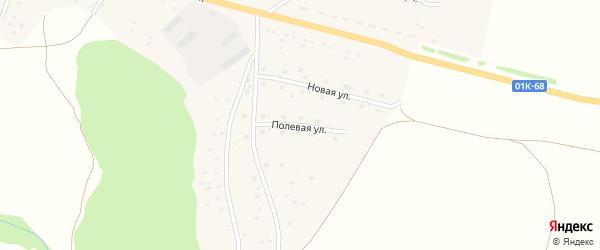 Полевая улица на карте села Харлово с номерами домов
