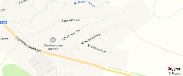 Молодежная улица на карте села Харлово с номерами домов