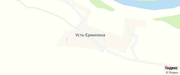 Центральная улица на карте поселка Усть-Ермилихи с номерами домов