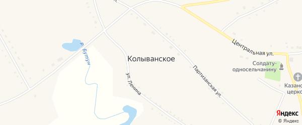 Центральная улица на карте Колыванского села с номерами домов