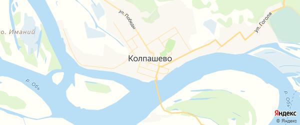 Карта Колпашево с районами, улицами и номерами домов