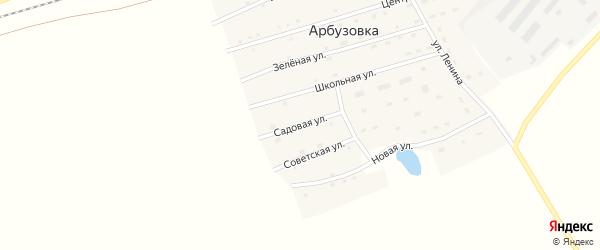 Садовая улица на карте станции Арбузовки с номерами домов