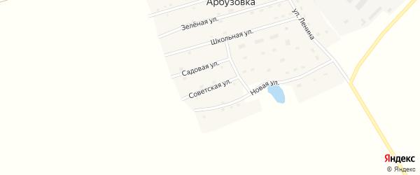 Советская улица на карте станции Арбузовки с номерами домов