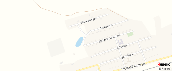 Новая улица на карте станции Арбузовки с номерами домов
