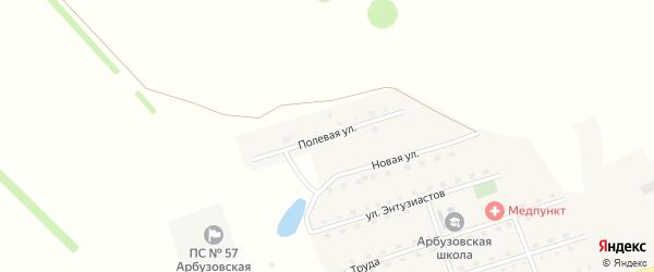 Полевая улица на карте территории сдт Зари с номерами домов