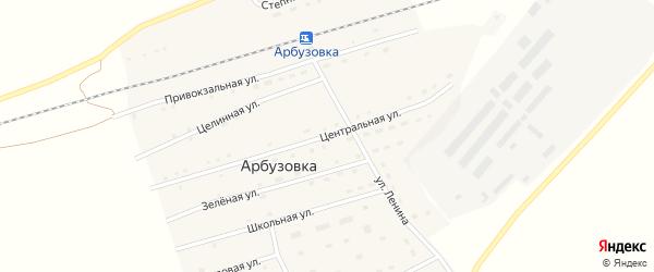 Центральная улица на карте станции Арбузовки с номерами домов