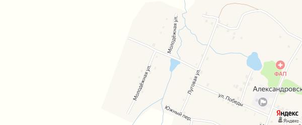 Молодежная улица на карте Александровского поселка с номерами домов