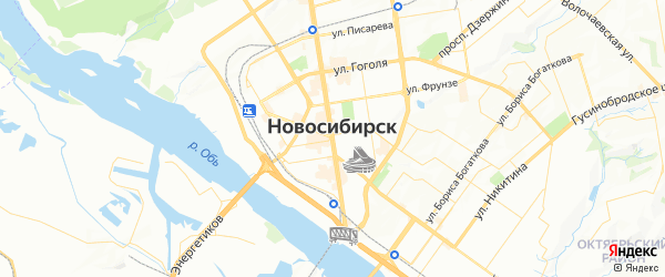 Карта Новосибирска с районами, улицами и номерами домов