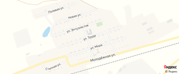 Улица Труда на карте станции Арбузовки с номерами домов