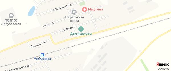 Молодежная улица на карте станции Арбузовки с номерами домов