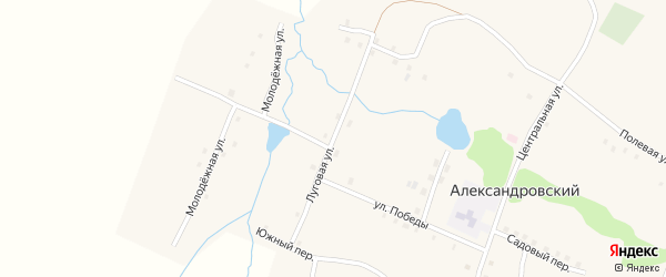 Луговая улица на карте Александровского поселка с номерами домов